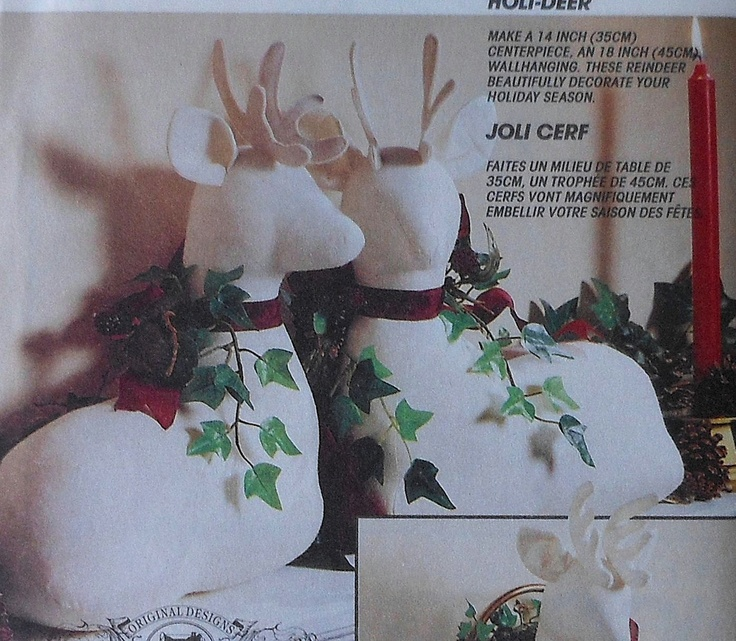 Cloth Reindeer Sewing Pattern Uncut Mccalls 6159 Holideer