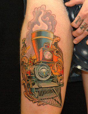 161 best images about train tattoo on pinterest. Black Bedroom Furniture Sets. Home Design Ideas