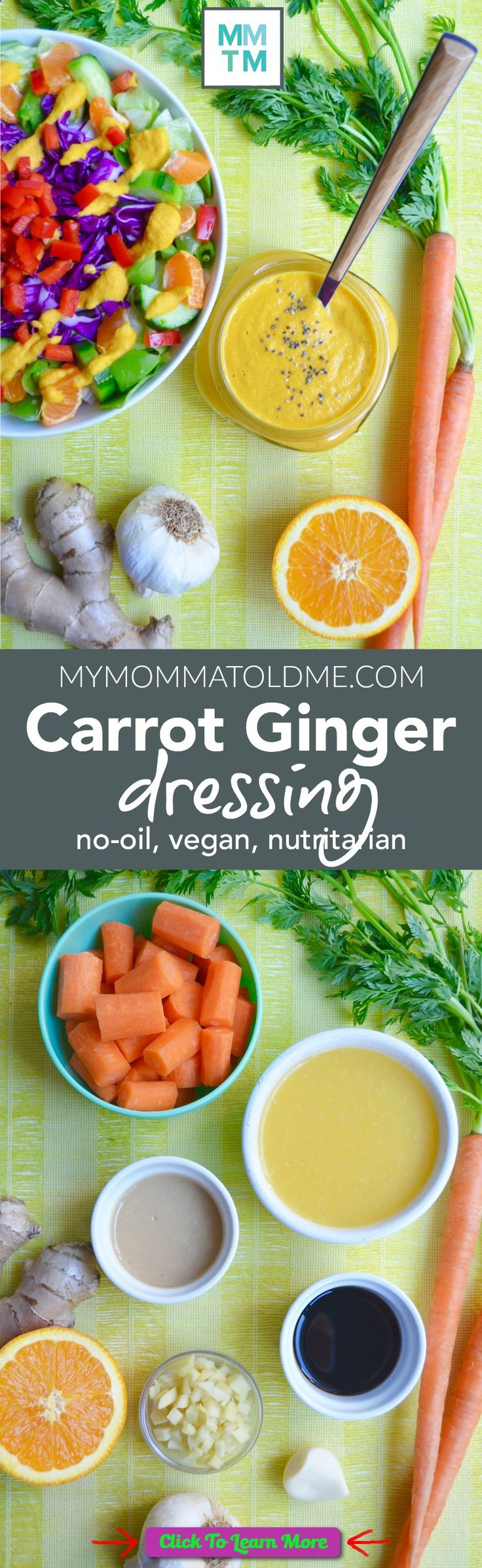 Eat to Live Program, nutritarian oil-free salad dressing recipe! Vegan and Eat to Live program approved! It tastes like the creamy ginger dressing you get at the Japanese restaurants! #health #fitness #weightloss #healthyrecipes #weightlossrecipes