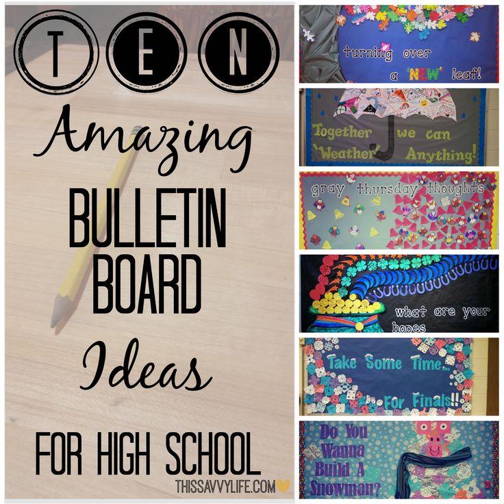 10 Bulletin Board Ideas For High School