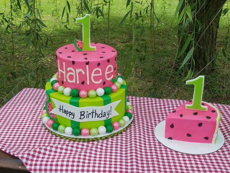Watermelon Birthday Cake And Smash Cake