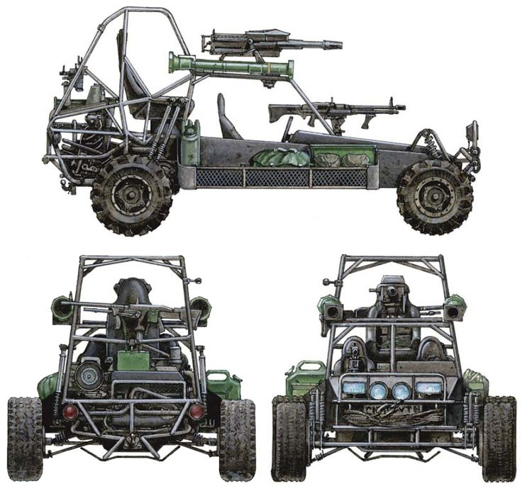 Fast Attack Vehicle for the  have served in the US Army and various American Special Forces units.