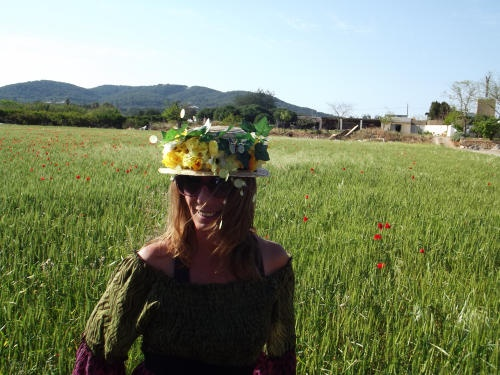sombrero country flowers elisa de ibiza
