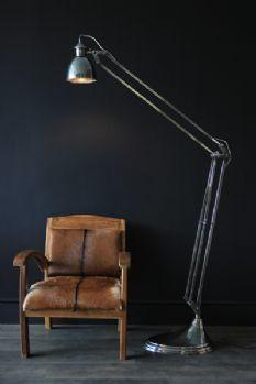Adjustable Brushed Steel Floor Lamp