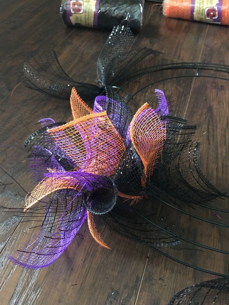 DIY Mesh Dollar Tree Halloween Wreath Halloween Head in