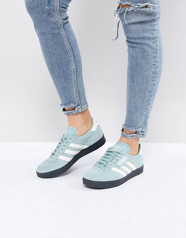 competitive price 63d49 902d8 adidas Originals Gazelle Super Sneakers In Blue With Dark Gum