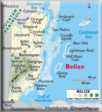 Map « Belize Paradise  Corozal, on Chetumal Bay, perhaps
