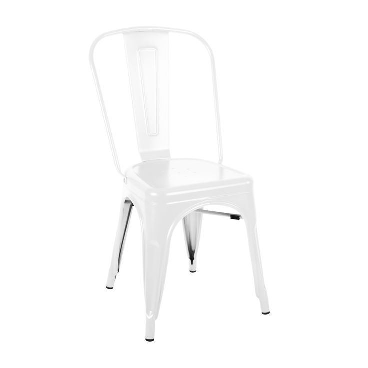Tolix chair in matte white Indoor use only Matte finish