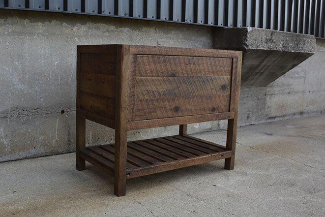 Custom Reclaimed Barn Wood Epoxy Butcher Block Counter Tops Vanities