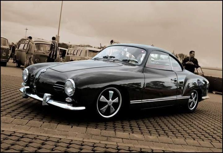 volkswagen black karmann ghia hard top
