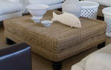 Ottoman on Bunfeet - Inside Out Home Boutique