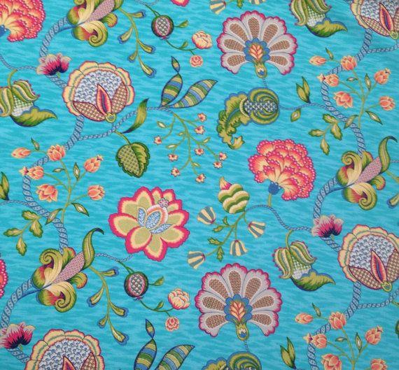 Spaß Floral Outdoor-Gewebe  Gewebe durch den Hof  von ShopMyFabrics