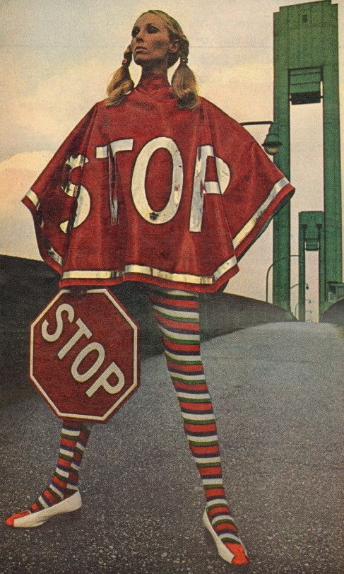 60s STOP Pop Art fashion