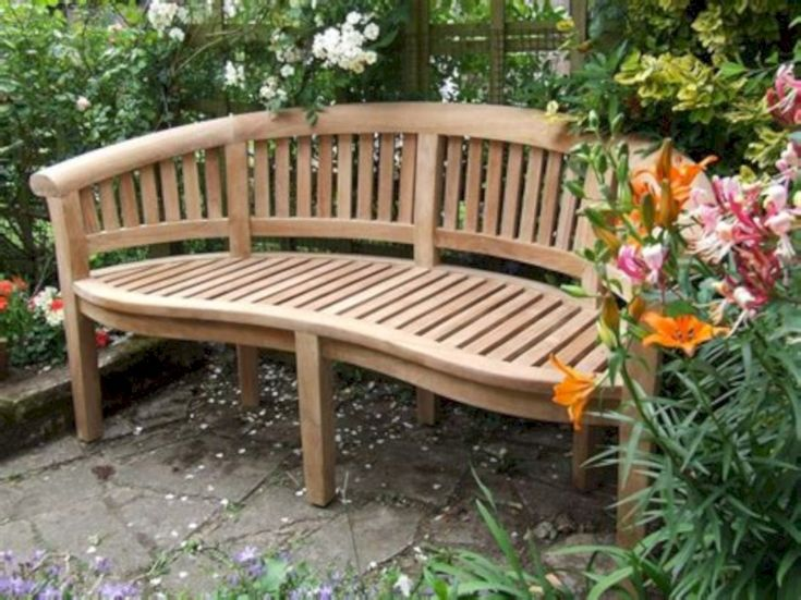 cool 31 Teak Garden Benches Ideas for Wonderful Outdoor Space
