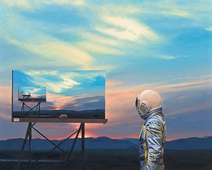 Картины художника, которого обманул Стэнли Кубрик — Скотт Листфилд уверен, что его поколение, выросшее на фильмах Лукаса и Кубрика, должно было оказаться в реальности доступного космоса, а не президентства Трампа. Став художником, Листфилд реализовал свою детскую мечту стать астронавтом.