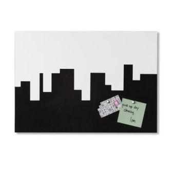 "SKYLINE MEMO BOARD  $49.99 Skyline Memo Board is half foam half metal dry erase board.  You can display memos with pins or magnets and write reminders.  21 x 15""."