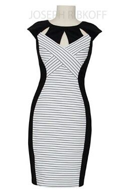 Joseph Ribkoff Dress | Black and White | #springracing #races #autumn #winter #horseraces