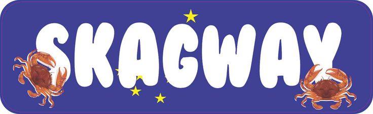 StickerTalk® Brand 10in x 3in Skagway Magnet Vinyl Alaska Flag Car Magnets