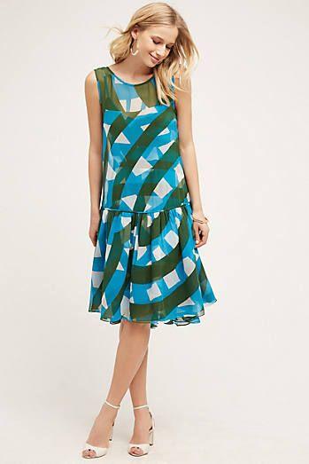 Dropwaist Silk Dress