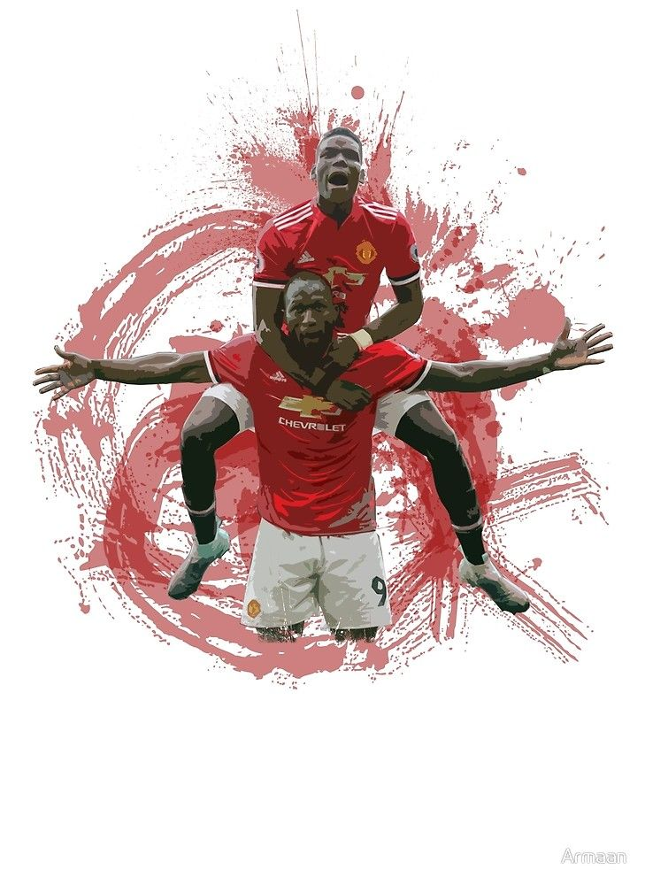 Lukaku and Pogba - Manchester United Art by Armaan Design available on T shirts and more! #lukaku #pogba #mufc #dab #reddevils