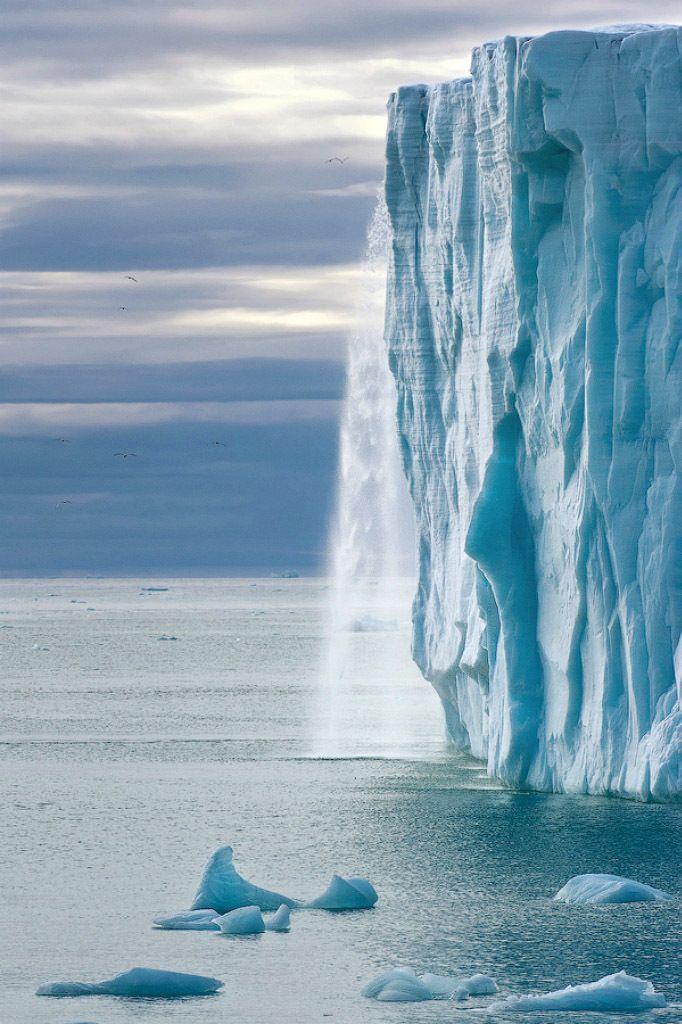 Glacial Waterfall. #alaskaGlacier Waterfal, Nature, China Travel, Beautiful, Glacial Waterfall, Ice Cap, Exotic China, Chine Landscapes, Mike Reyfman