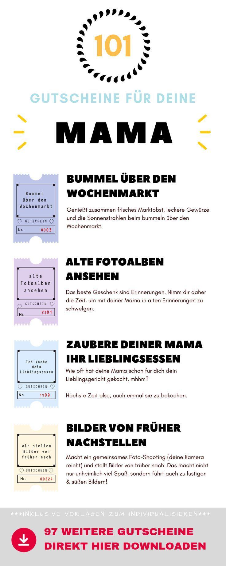 25 101 Gutscheine Fur Deine Mutter Ideen Vorlagen Und Tipps