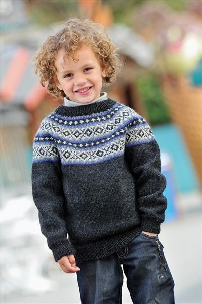 sweater med rundt bærestykke str 1-14 år
