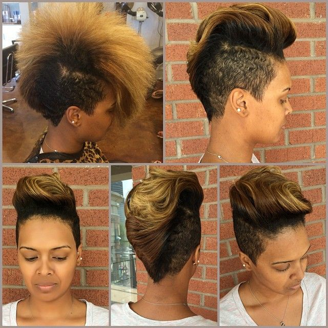 Beautiful Mohawk And Color @hairbylatise - http://community.blackhairinformation.com/hairstyle-gallery/short-haircuts/beautiful-mohawk-color-hairbylatise/