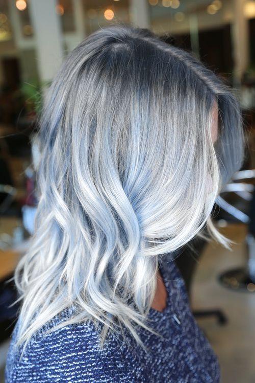 Pastel blue, steel, and grey wavy locks