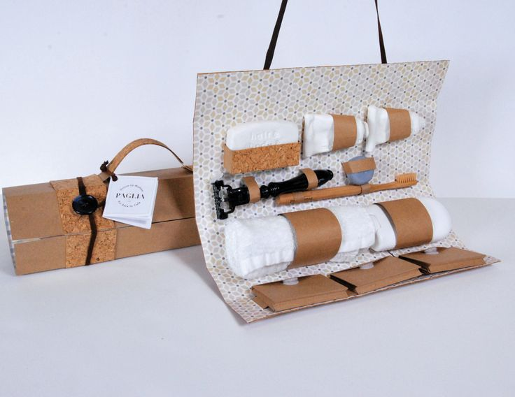 This package is a travel wash bag that aims to reduce the number of consumables the average person uses on a daily basis. It is made of cork, brown crafting paper, patterned paper, leather and plastic buttons. Each product selected to go into the package …