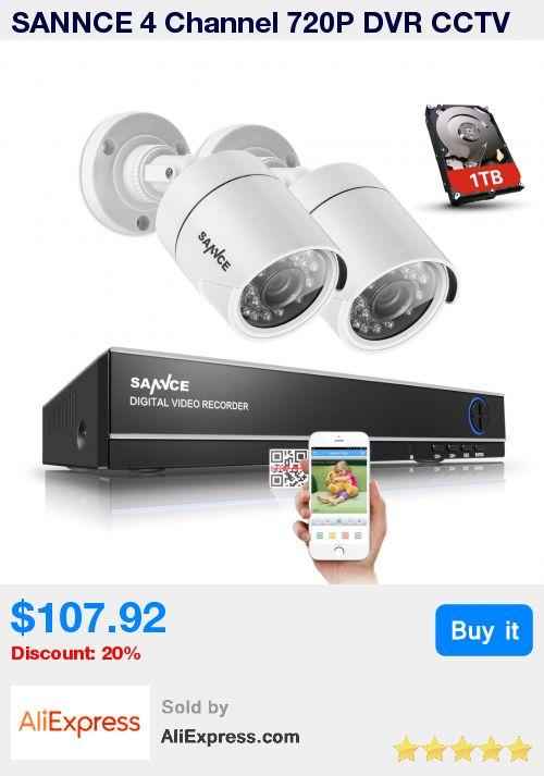 SANNCE 4 Channel 720P DVR CCTV Camera System 1TB HDD 2PCS 1200TVL 720P IR Outdoor Security Camera System Surveillance Kit * Pub Date: 07:33 Sep 7 2017