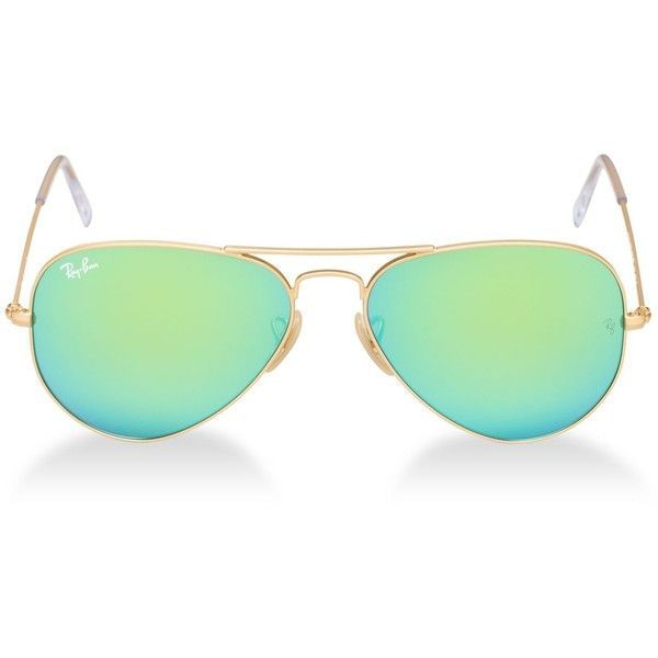 Ray-Ban Sunglasses Ray-BANRB3025 55 Original Aviator ($170) ❤ liked on Polyvore featuring accessories, eyewear, sunglasses, glasses, oculos sol, rayban, green sunglasses, aviator sunglasses, ray ban sunglasses and matte sunglasses