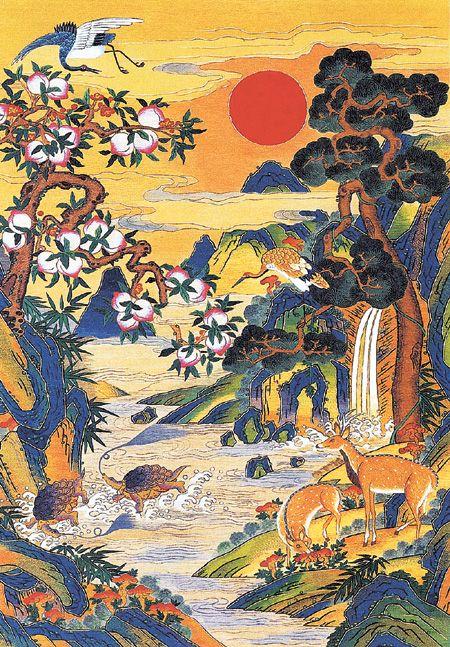 10 Longevity Symbols painting - shipjangsaeng