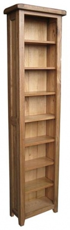 Bordeaux Rustic Oak Bookcase/cd/dvd unit £279.68
