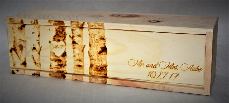 THESE WINE BOXES MAKE A GREAT BIRTHDAY GIFT FOR THAT SOMEONE SPECIAL. JUST ADD A NICE BOTTLE OF WINE IN THE PERSONALIZED BOX AND YOU HAVE THE PERFECT GIFT FOR YOUR BIRTHDAY CELEBRATIONS. THE ENGRAVING THAT YOU CHOOSE IS INCLUDED IN THE PRICE OF THE LISTING. THAT'S RIGHT! NO EXTRA CHARGE FOR CUSTOM ENGRAVING YOUR WINE BOXES!