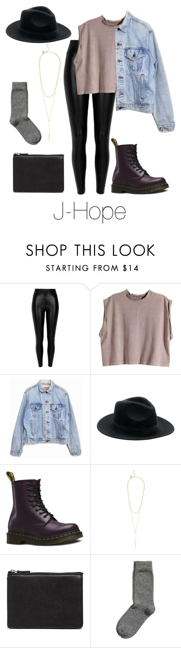 """""""J-Hope Inspired w/ Dr. Martens"""" by btsoutfits ❤ liked on Polyvore featuring H&M, Levi's, Dr. Martens, Kate Spade and ASOS"""