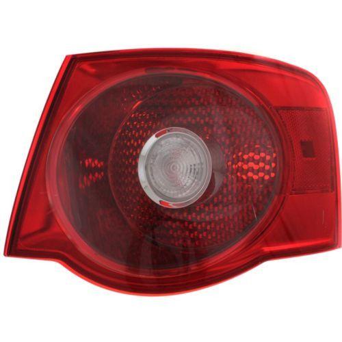 2005-2007 Volkswagen Jetta Tail Lamp RH,Outer,Lens And Housing,Red Lens,Sedan