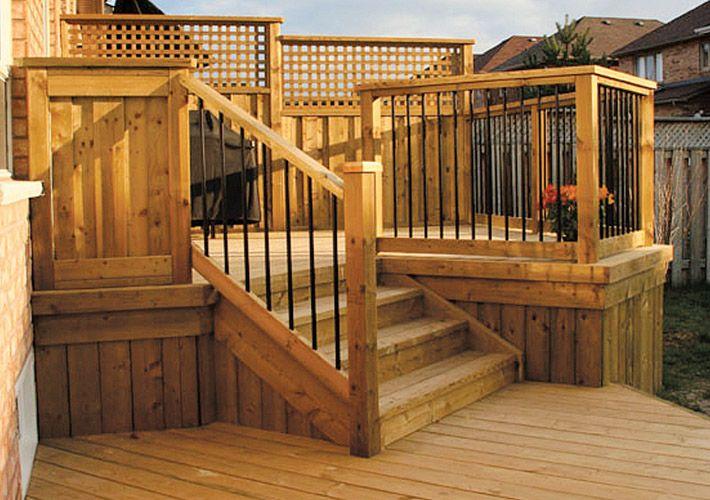 deck fence designs deck fence ideas decking. Black Bedroom Furniture Sets. Home Design Ideas