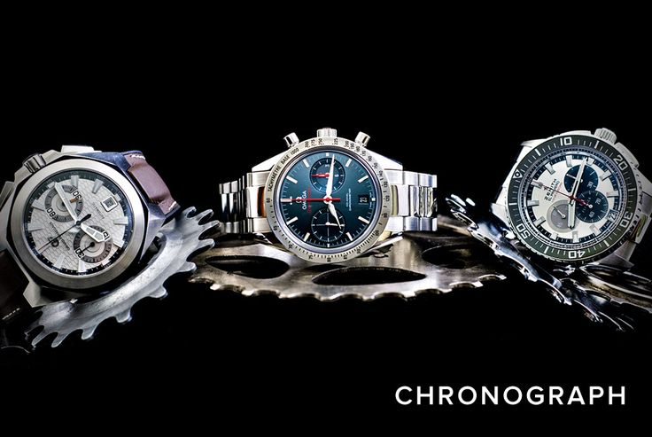 """""""Watch Definitions""""  Chronograph: A watch which not only indicates the time of day in hours, minutes and seconds, but also measures continuous and discontinuous intervals of time; a watch with a stop-watch function."""