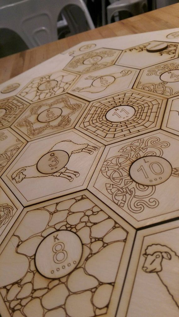 Settlers of Catan board Laser cut and Engraved by snaeg on Etsy