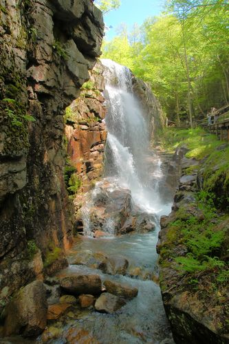 The Flume, Franconia Notch State Park, New Hampshire.