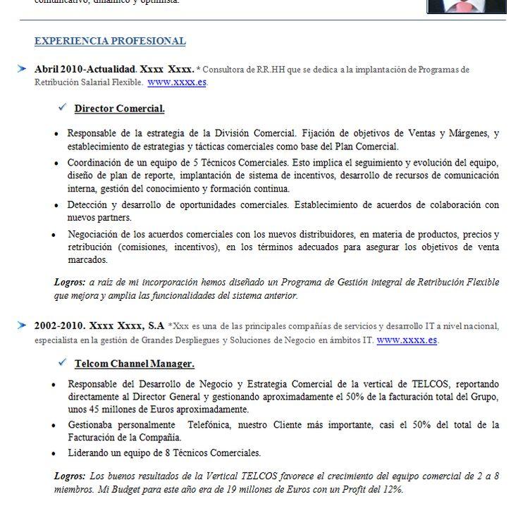 Ejemplo de Curriculum cronologico