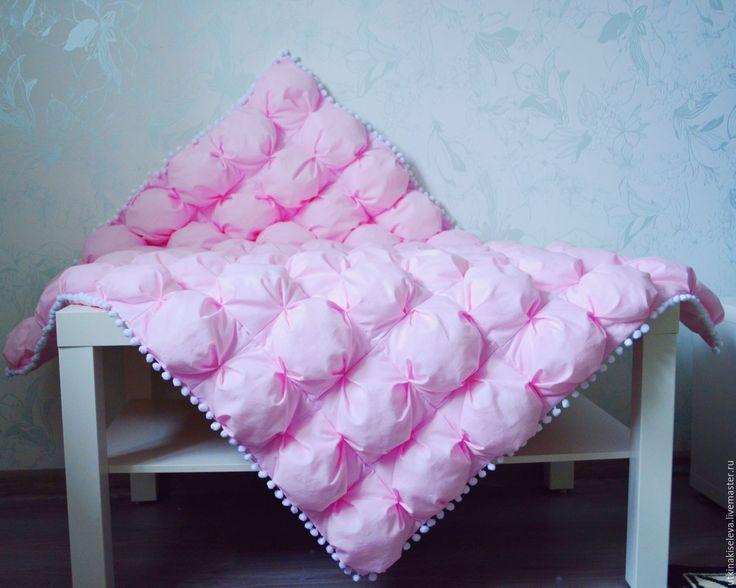 Купить Одеялко бомбон - розовый, пошив на заказ, ручная работа, одеяло бомбон, лоскутное одеяло
