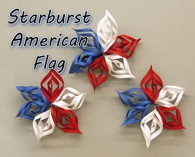 What a fun decoration to hang in the patriotic theme classroom - and it's a DIY!