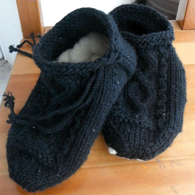 Gorgeous thrummed slipper pattern...ooh, I can feel those winter nights just around the corner...