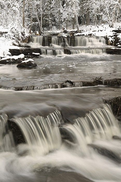 Waterfalls With Fresh Snow Thunder Bay