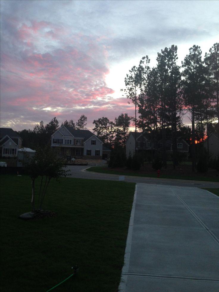 Sun set apex Raleigh nc USA