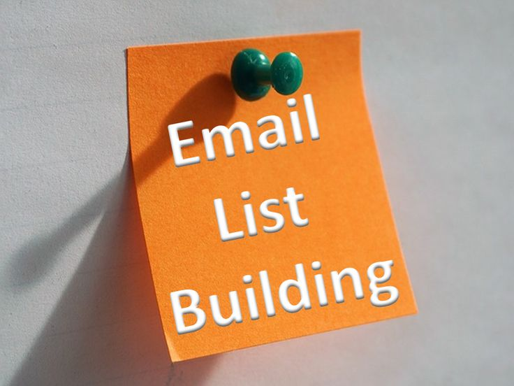 what is email list building