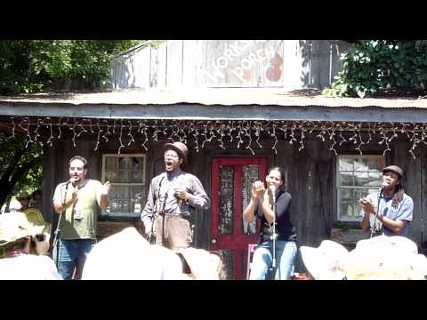 "Carolina Chocolate Drops performing ""Read 'Em John"" at the Floydfest Workshop Porch.  I was in the front row. :)  They are incredibly smart and talented."