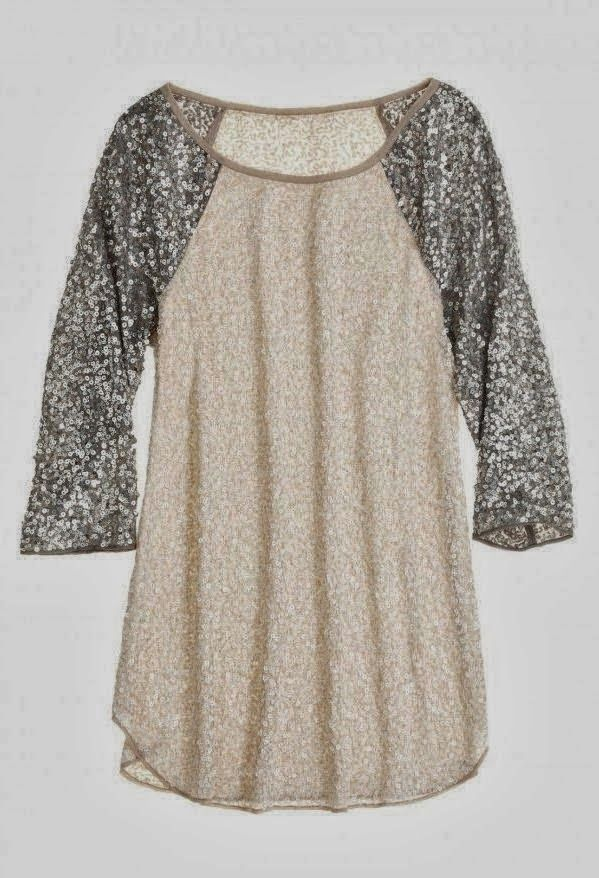 Sparkling Glitter Sleeve Baseball Top- perfect mix of comfy and sassy!